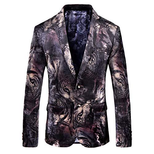 Men Luxury Floral 2 Button Back Vent Prom Jacket Sport Coat Casual new Blazer