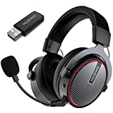 NUBWO G05 Wireless Gaming Headset for PS5/PS4/PC Computer Headset with Dual Chamber Driver, Noise Cancelling Mic, Ultra Light Over-Ear Gaming Headphones, Long Time Working