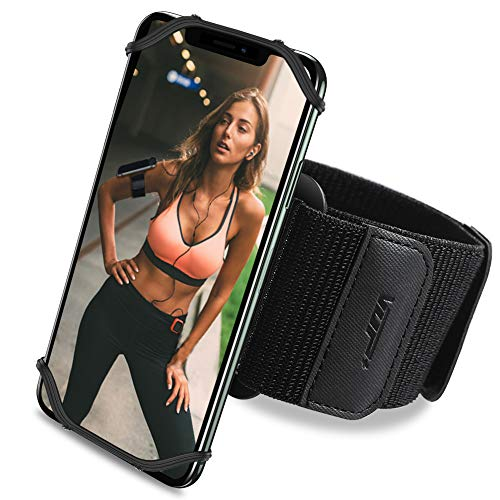 waschbares Sport Armband, Atmungsaktives Laufen Armband, 360° drehbares Laufarmband, elastisches Handy Armband, universales Sport Laufenarmband für Alle Handy, Handytasche für Joggen Radfahren Wandern
