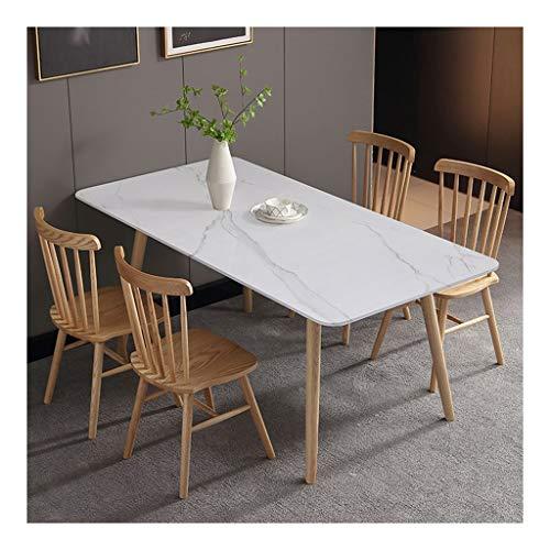 Ownlife Mesa de Comedor con sillas, 5 Piezas de Comedor de mármol Juego de Mesa Rectangular Superior Moderno Mesa y 4 sillas Comedor Mobiliario de Cocina