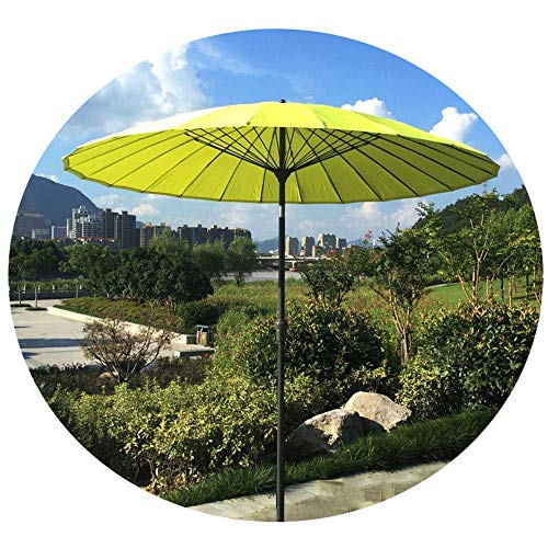 YLJYJ Parasol Sombrilla de jardín Redonda de 2,7 m, Parasol de Patio para terraza de Piscina de Playa, con función de manivela e inclinación, (Silla)