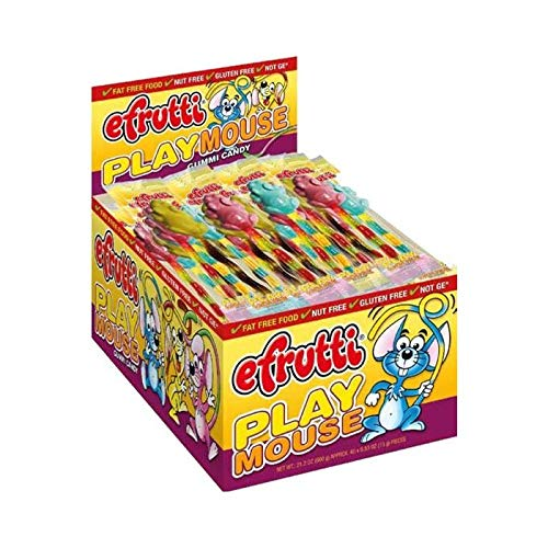 E.frutti Play Mouse Gummi Candy, 0.53-Ounce (Pack of 40)