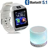 Enraciner Smart Watch with Camera Bluetooth Wrist Watch SIM Card Smartwatch { Buy Smart Watch Free LED Speaker }