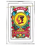Naipes Real Spanish Playing Cards in Durable Plastic Case for Storage - Educational Product - Traditional Deck - Latin Tarot - Baraja Española - Play Truco Brisca