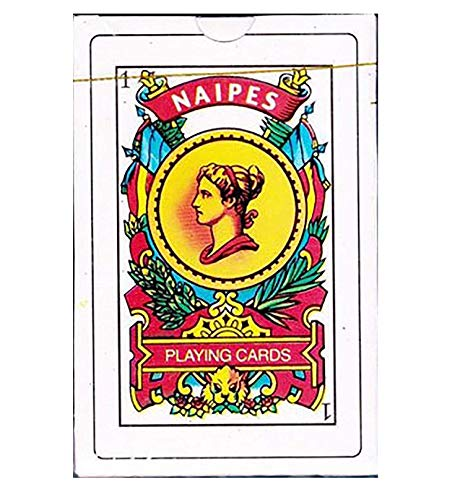 Naipes Real Spanish Playing Cards in Durable Plastic Case for Storage - Educational Product - Traditional Deck - Latin Tarot - Baraja Espa