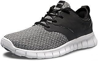 TSLA Men's Knit Pattern Sports Running Shoes