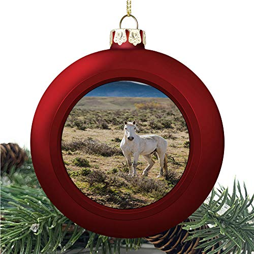 aosup White Horse On/Christmas Ball Ornaments 2020 Christmas Pendant Personalized Creative Christmas Decorative Hanging Ornaments Christmas Tree Ornament №IS144449
