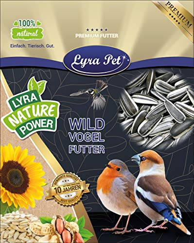Lyra Pet® 10 kg Sonnenblumenkerne gestreift Wildvogelfutter Vogelfutter HK Deutschland Ernte 2020