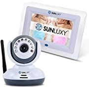 SUNLUXY 2.4G Wireless Digital Video Baby Monitor with 7'' Color LCD Screen - Night Vision Two-Way Baby Intercom Long Distance Transmission Support TV Display?