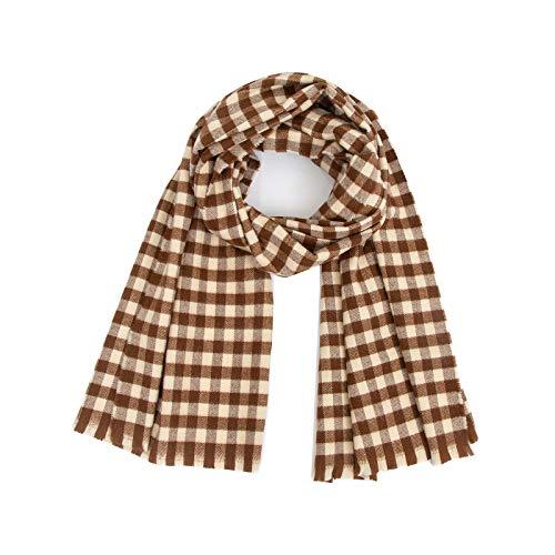 Memefood Bufanda larga y suave para mujer, abrigos de lana, 200 x 50 cm