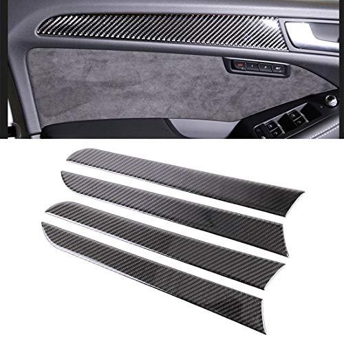 GBHGBH ES Etiqueta engomada Decorativa del Panel Interno de la Puerta de la Fibra de Carbono del Coche de 4 PCS for Audi A4L / A5 / Q5 Accesorios de Coche