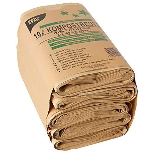 Pappstar Kompostbeutel aus Papier 5 x 10 Beutel á 10 L (ca.21x35cm)
