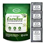 All Prime Bamboo Charcoal Bags Odor Absorber - 4 Pack LARGE 500g Bags – Charcoal Air Purifying Bags – All-Natural Odor Eliminator for Home – Charcoal Deodorizer – Activated Charcoal Odor Absorber