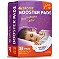 Sposie Adhesive Overnight Diaper Booster Pads for Regular & Pull-On Diapers, Nighttime Protection for Heavy Wetters, Fits Diaper Sizes 4-6 and Pull-ons 2T-5T