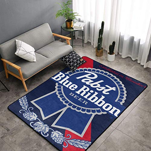 Pabst Blue Ribbon Beer Modern Simple Decorative Carpet Lazy Leisure Blanket