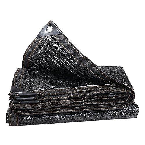 HUO Filet D'ombre, Tissu De Protection Solaire Multifonctionnel, Maille D'isolation D'ombrage, Auvent De Couverture (Couleur : Noir, Taille : 8 * 8m)
