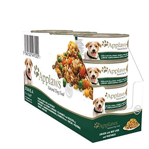 Applaws- Comida de perro con sabor de pechuga de pollo con rigado de ternera, 12 X 156g