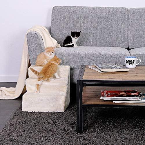 lionto by dibea Escalier pour animaux escalier pour chat escalier pour chien couleur Beige
