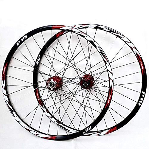 TYXTYX Mountainbike Juego de ruedas 26 27.5 29 pulgadas 7 8 9 10 11 12 velocidad bicicleta ruedas ultraligero MTB llanta disco freno QR sellado cubo para cassette volante 32 radios
