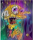PAODEKUAI Póster De Decoración En Lienzo, Pintura De Seda con Ácido Psicodélico Abstracto, Cuadros De Pared LSD, Póster De Dormitorio E Impresiones, Arte para El Hogar
