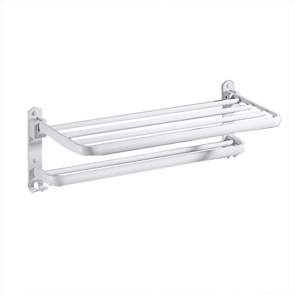 Towel store rack Foldable Removable Max 86% OFF Double White Multiple Choices
