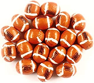 Scott's Cakes Foil Wrapped Solid Milk Chocolate Footballs in a 1 Pound White Bakery Box