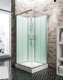 Schulte Cabine de douche complète en angle Corsica avec portes coulissantes,...