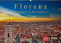Florenz - Schoenheit in der Toskana (Wandkalender 2022 DIN A2 quer): Florenz - wunderschoen und das kulturelle Highlight in der Toskana (Geburtstagskalender, 14 Seiten )
