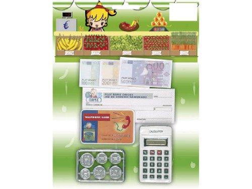WDK PARTNER - A0602127 - Jeux d'imitation - Monnaie Euros + calculatrice