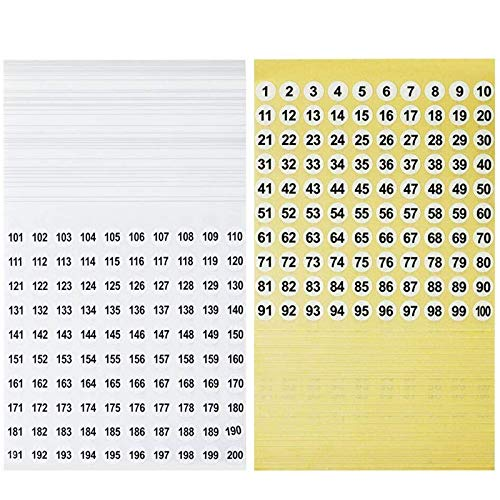 Kulannder 10000 Pcs Anzahl Aufkleber Runde Selbstklebende Aufkleber Kleine Etiketten Wasserdichter Aufkleber für Schule Dekorationen und Markieren (50 Blatt gelb unten, 50 Blatt weiß unten)