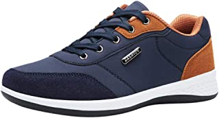 comprar comparacion ZODOF Zapatillas Hombre Moda Casual Ata para Arriba Cuero Deporte Zapatos para Correr Respirable Zapatillas Deportivas Tra...