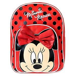 51gNVmdTAJL. SS300  - Disney Mochila para niñas Minnie Mouse (Rojo)