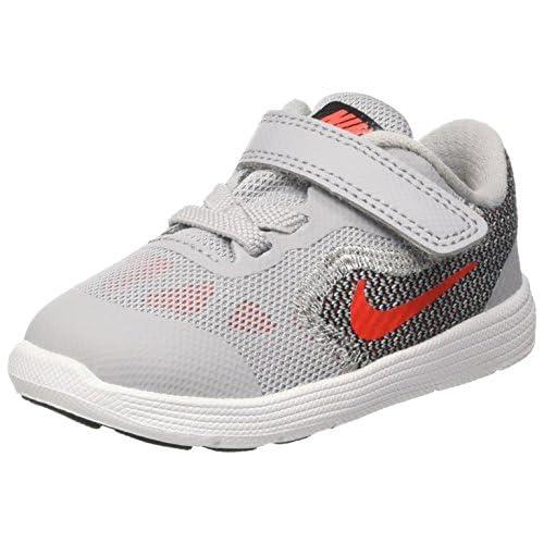 Nike Revolution 3 TDV, Sneakers Bimbo, Grigio (Wolf Grey/Max Orange/Black/White), 23.5 EU