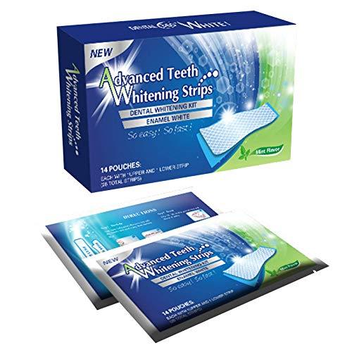 Raburt 14/7Pcs Gel Teeth Whitening Strips White Tooth Kit Oral Hygiene Care Strip for Teeth Veneers