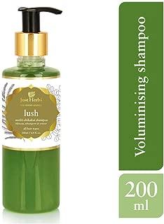 Just Herbs Lush Methi Shikakai Shampoo, 200ml (Parabens and SLS Free)