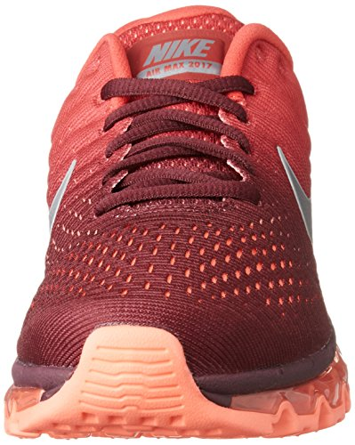 Nike Men's Air Max 2017 Maroon/White/Gym Red Nylon Running Shoes 10.5 M US