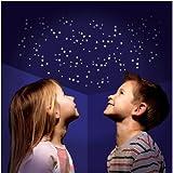 350 UV aktive Leuchtsterne & mehr, selbstklebend, Sternen Himmel ,Sternenzelt Sticker, Deko Aufkleber für eigene Galaxien an Wand und Decke, Himmelszelt Deko, Sterndeko, einschlafen unter...