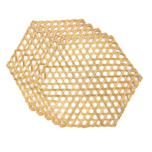 SUPVOX 10pcs 23cm Bamboo Weaving Ornament Classical Woven Rattan Hanging Decor for Home Office Wall Decoration Size S