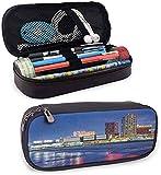 City Big Pencil Pouch Pouch Resort Casinò on Shore at Night Atlantic City New Jersey Stati Uniti per Penne Matite Evidenziatori Pennarelli Gel E