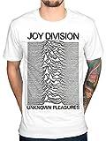 Official Joy Division Unknown Pleasures T-Shirt, White, M