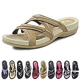 GP Slide Sandals for Women: 7534 Tan, EU40 (US Size 9-9.5)