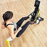 Ruderzugmaschine mit Rudergerät Mute Bauchbrust Arm Fitnesstraining Körper Glider Rudern Home Gym Fitnessausrüstung (Farbe : Schwarz, Größe : Einheitsgröße) - 5