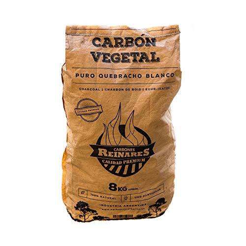 Carbon Vegetal Barbacoa Natural sin Humo carbones para barbacoas de Quebracho Blanco Argentino 8Kg