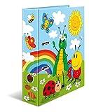 HERMA 19819 Motiv-Ordner DIN A4 Kindergarten Frieda & Friends, 7 cm breit aus stabilem Karton mit hochwertigem Innendruck und Namensfeld, Ringordner, Aktenordner, Briefordner, 1 Ordner