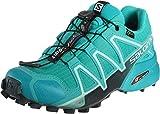 Salomon Speedcross 4 Gore-Tex (impermeable) Mujer Zapatos de trail running, Azul (Bluebird/Icy Morn/Ebony), 36 EU
