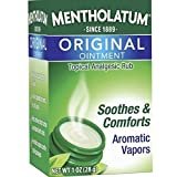 Mentholatum Original Ointment Soothing Relief Aromatic Vapors oz, No Color, 1 Ounce, (Pack of 3)