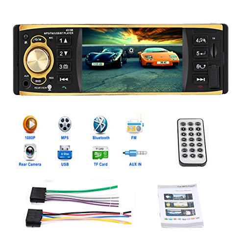 GOFORJUMP Autoradio Bluetooth, autoradio stéréo Bluetooth, Prise en Charge du Lecteur MP4, appels Mains Libres, Fonction de Radio, 4.1 Pouces autoradio AUX FM Radio Station télécommande 12V