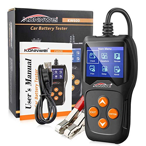 KONNWEI KW600 Batterie Tester Universal 12 V Auto Motorrad Batterie Detektor Digital Multi Funktionen Tester für Auto Motorrad