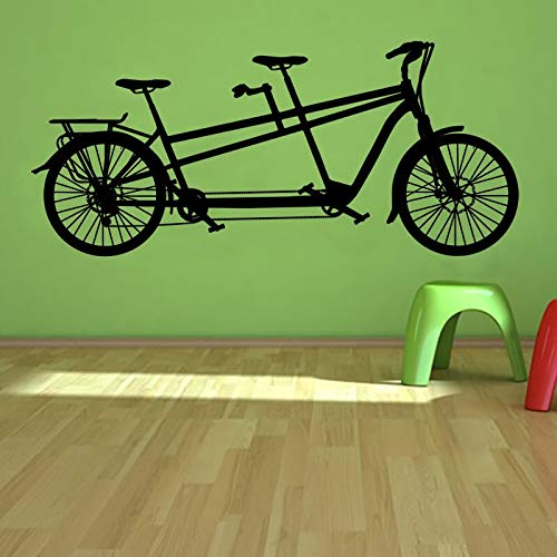 yaonuli Doppel Fahrrad Wandaufkleber Freizeitsport Home Dekoration Wandaufkleber Wohnzimmer Schlafzimmer Wandbild 30X66cm