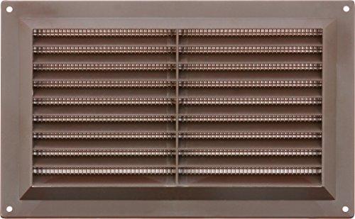 MAP Vents 926-04 Plastic Louvre Vents, Brown, 9' x 6'